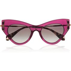 Resort  style - Miu Miu embellished cat eye acetate sunglasses Lunettes De  Soleil, c58ccd516116
