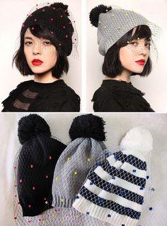 """Idée DIY """"bonnet voilette"""" pour les bricoleuses : Chapeau, bonnet par rose-de-roz"""