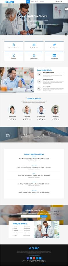 PenNews is a clean and modern design responsive multipurpose #WordPress #template for #medical, #healthcare services, News, magazine, business and portfolio showcase beautiful website with 60+ niche homepage layouts to download & live preview click on image or Visit