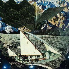 'Summer Heart' by Jheri Evans #CollageArt #BlackbirdBlackbird