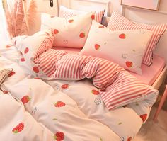 Soft Girl Bedding Set Notice: The bedding set has a duvet cover with no filling,a bed sheet and pillowcase ●Size:tips the size of the quilt to choose the bedding set. Girls Bedding Sets, Luxury Bedding Sets, Bedroom Sets, Girls Bedroom, Bedroom Decor, Girl Bedding, Comforter Sets, Bedrooms, King Comforter