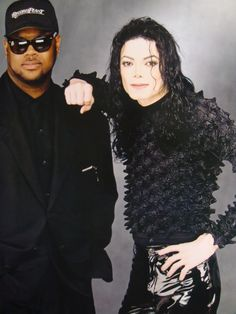 MJ and Terry Lewis (It looks like Jimmy Jam to me.)