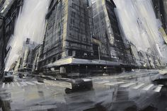 Blurred Cityscape Paintings By Valerio D'Ospina http://designwrld.com/cityscape-paintings-valerio-dospina/