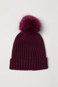 Rib-knit Hat - Plum - Kids  9395e349bca8