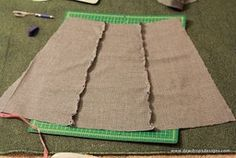 Easy Breezy Skirt - each panel = 1/6 of waist measurement at the top and 2/6 at the bottom.