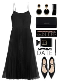 """Summer date"" by fanfanfann ❤ liked on Polyvore featuring Victoria, Victoria Beckham, Givenchy, Chanel, Charlotte Russe and Gucci"