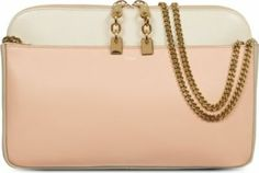 CHLOE Lucy Calfskin Tri Colour Clutch £2,210 - Embrace spring's most versatile pastel shade with a day-to-night clutch