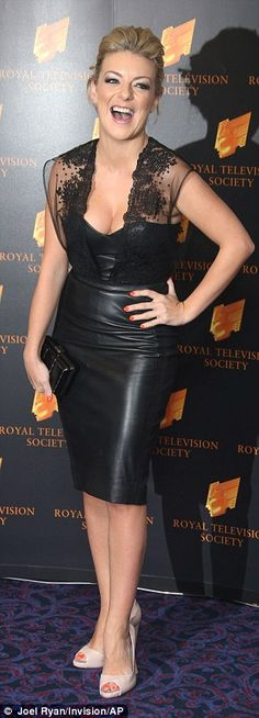 Sheridan Smith wears tight leather minidress as she leaves RTS Awards with actor Paul Keating   Daily Mail Online