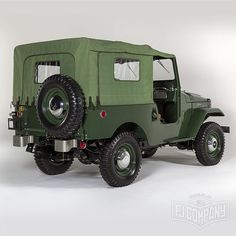 1960 Toyota LandCruiser FJ25 Army Green Photo studio. Hi-Res pictures available…