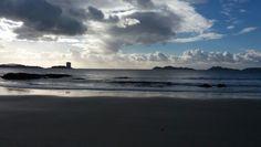 Playa samil vistas islas de Toralla y Cies