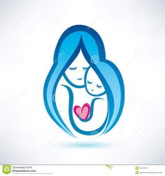 Royalty Free Stock Photos: Mother and child symbol