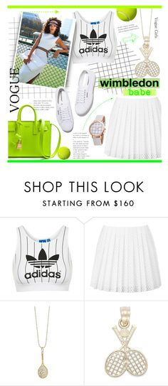 """Game, Set, Fashion!"" by alexandrazeres ❤ liked on Polyvore featuring adidas Originals, McQ by Alexander McQueen, Superga, Sydney Evan, tennis, grandslam and wimbledonbabe"