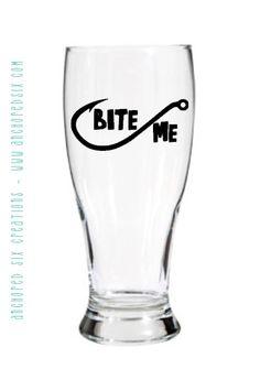 Bite Me Pilsner Glass - Barware - Personalized Glassware