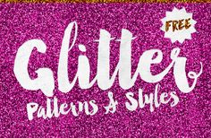 My home office is a complete mess with fairy sprinkles everywhere after creating my latest free design resource. This pack of 8 glitter patterns will help you glam up your designs and achieve realistic glittery effects in your artwork. They're available in various colours as repeating JPEG images, a set of Photoshop Patterns and Photoshop …