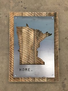 Laser cut Minnesota State Steel Sign #modern #MNpride