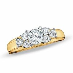0.50 CT. T.W. Diamond Cluster Engagement Ring in 14K Gold | View All Wedding | Wedding | Peoples Jewellers