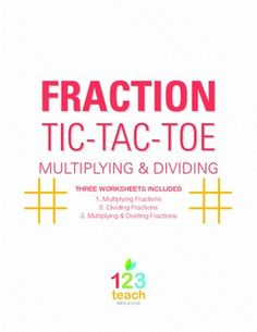 Practice Simplifying Fractions while also playing Tic-Tac-Toe! 6th Grade Activities, Teaching 5th Grade, Fifth Grade Math, Teaching Math, Simplifying Fractions, Dividing Fractions, Math Fractions, Equivalent Fractions, Multiplication
