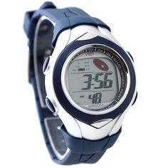DW045F PNP Shiny Silver Kasse Chronograph Dato Mørkeblå Bezel Digital Watch
