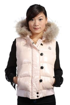 Moncler Tarn Quilted Gilet with Racoon Fur Trimmed Hood White [2900207] - £139.69 :