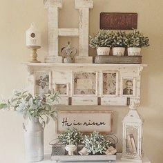 Beautiful soft entry way! #antiquemarketdecor