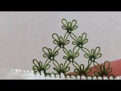 Çiçekli kaya modeli çok beğeneceksiniz - YouTube Needle Lace, Crochet Shawl, Bookmarks, Tatting, Make It Yourself, Crafty, Embroidery, Sewing, Videos