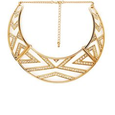 FOREVER 21 Glam Cutout Bib Necklace ($11) ❤ liked on Polyvore featuring jewelry, necklaces, forever 21, accessories, bib, chain bib necklace, cut out jewelry, forever 21 necklace, short chain necklace and cut out necklace