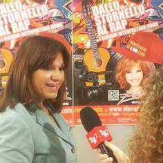 Intervista ad Elena Bonelli su Tg2 per il concorso DALLO STORNELLO AL RAP. #Dallostornelloalrap