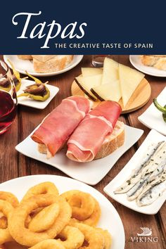Explore Creative Taste of Spanish Tapas - Indulge in the rich history and culture of Spain's most popular way to graze: Tapas! Popular Recipes, Popular Food, Viking Ocean Cruise, Viking Food, Spain Culture, Spanish Tapas, Tapas Bar, Cruise Vacation, Vacation Destinations