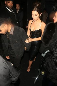 Bella Hadid and Abel Tesfaye leaving the #MetGala2016 after party.