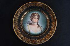 Zeh Scherzer Royal Vienna Style Queen Louise of Prussia Portrait Plate C. 1900