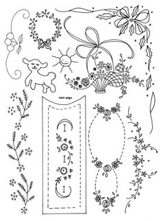CLASSIC EMBROIDERY DESIGNS SET ONE is a collection of over 90 vintage motifs and designs for hand embroidery. Suitable for embellishing heirloom garments and many other items with surface embroidery or shadow work. Available at