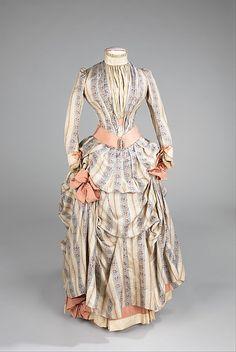 Date: ca. 1885 Culture: American Medium: silk, rhinestones, metal