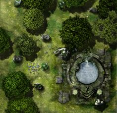 Gardmore Encounter 13 & possibly more: Font of Ioun. Fountain by Supercaptain.
