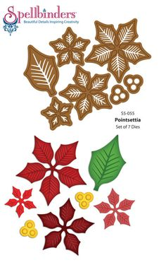 Introducing JustRite Festive Poinsettia Stamps and Grand Christmas Sentiments | JustRite Papercraft Inspiration Blog