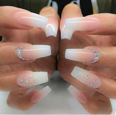 Topic For Black And White Ombre Nails : Black White Gold Nails By . Coffin Nails coffin nails black and white Coffin Shape Nails, Coffin Nails Long, Long Nails, Short Nails, White Nails With Gold, Rose Gold Nails, Pink Nail, Glitter Nails, Black Nails