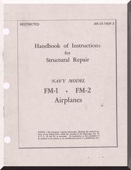Grumman FM-1 and FM-2  Aircraft Structural Repair Manual AN  01-190F-3, 1944
