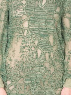 """Pattern Fashion - """"Decay"""" sweater dress with surface stitch pattern design inspired by organic form // Marie Ilse Bourlanges"""