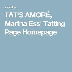 TAT'S AMORÉ, Martha Ess' Tatting Page Homepage