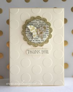 Quick and easy thank you card by Angela Sargeant