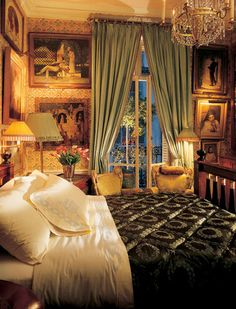Master bedroom from Denning & Fourcade's Paris residence. Photo Credit: Architectural Digest.com.