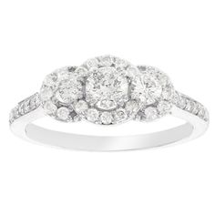 Shop for H Star 14k White Gold 7/8ct Diamond Halo Engagement Ring. Get free delivery at Overstock.com - Your Online Jewelry Destination! Get 5% in rewards with Club O! - 18938933