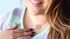 """Monogram Necklaces are a perfect gift for any occasion. There isn't a better gift then a personalized piece of jewelry.   Get yours at:  Mynamenecklace.com Use code: """"MAPHIE"""" for 10% OFF all items!  #monogram #perfectgift #giftideas #giftideasforher #mynamenecklace #hellomaphie #necklace #jewelry"""