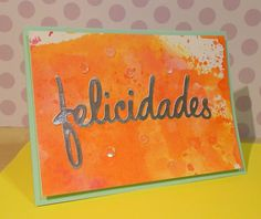 Birthday card with a word die
