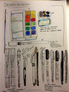 7-21-14 art journal by sketchbookbuttons on Flickr.