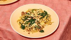 Peanut Butter Noodles with Collard Greens, Pork & Soy Sauce. If you'd rather order food off the internet than cook on a stressful weeknight—check out this recipe for an easy, creamy peanut, pork and collard greens noodles. Peanut Noodles, Rice Noodles, Asian Noodles, Pork Noodles, Veggie Noodles, Pork Recipes, Asian Recipes, Ethnic Recipes, Barbecue Recipes