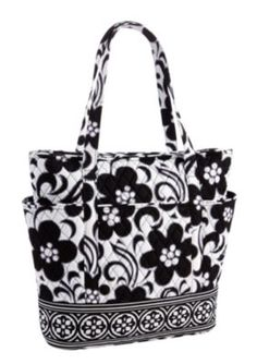 Vera Bradley bag. Some of the patterns are a little busy for my taste but I like this one.