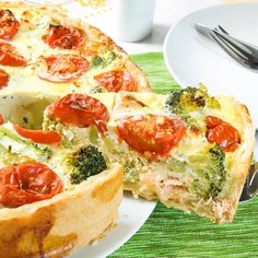 A Tasty recipe for quiche with salmon and broccoli. Delicious enjoyed with a salad.. Salmon Broccoli Quiche  Recipe from Grandmothers Kitchen.
