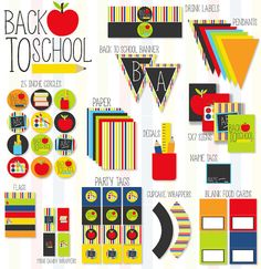 Back To School Party PRINTABLE Full Collection by Love the Day