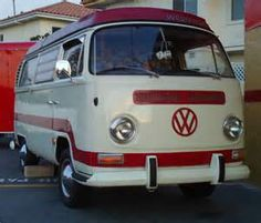 this beautiful 1969 white and red vw bus is owned by scotty s scooters ...