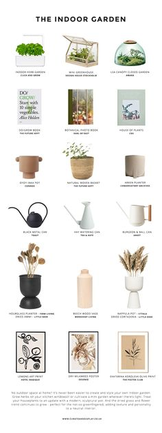 Do your houseplants need a bit of styling? Check out my tips for achieving lush, Nordic indoor garden style with this edit of Scandinavian design, featuring botanical books and prints as well as modern, sculptural planters, vases and mini gardens.